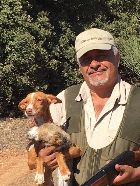 El cazador ama a sus perros