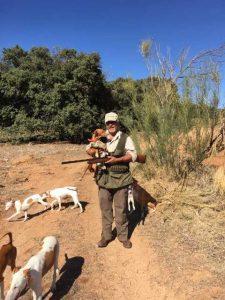 cazando con Podenco Andaluz desde el año 1974 2